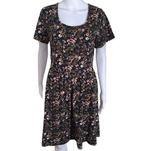 FOREVER 21 PLUS Floral Mini Dress Green Size 3X